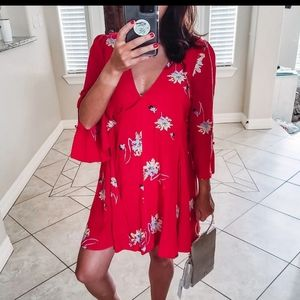 Free People Red Dress, sz Small